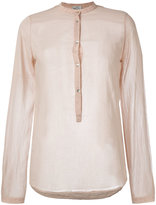 Forte Forte band collar blouse - women - Silk/Cotton - 1