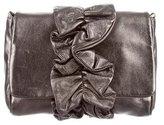 Dolce & Gabbana Metallic Pleated-Paneled Bag