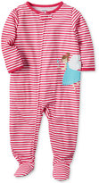 Carter's 1-Pc. Striped Fairy Footed Pajamas, Baby Girls (0-24 months)