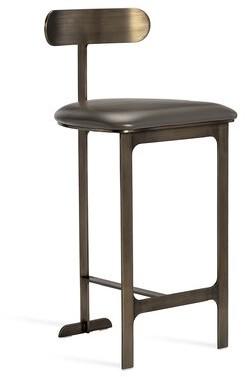 "Interlude Hollis Bar & Counter Stool Color: Gray/Bronze, Seat Height: Counter Stool (26"" Seat Height)"