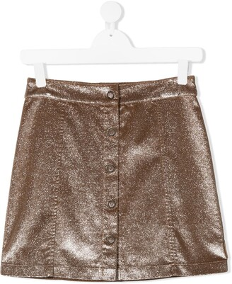 Moncler Enfant Metallic Mini Skirt