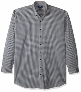 Cutter & Buck Men's Big & Tall Long Sleeve Anchor Gingham Button Up Shirt