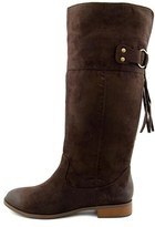 BC Footwear Womens Collective Fabric Almond Toe Knee High Fashion Boots.