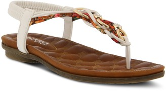 Spring Step Patrizia by Embellished T-Strap Sandals - Gadelina