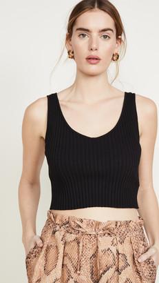 Enza Costa Rib Sweater Knit Cropped Scoop Tank