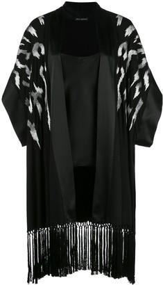 Josie Natori Fringed Wrap Robe