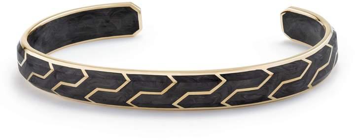 David Yurman Forged Carbon Cuff with 18K Gold