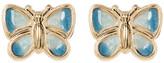 Candela 14K Yellow Gold & Enamel Butterfly Stud Earrings