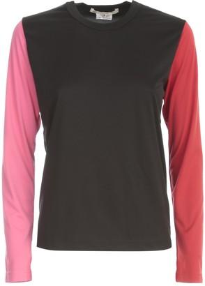 Comme des Garcons Polyester Jersey Chiffon T-shirt L/s Crew Neck