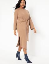 ELOQUII Tie Waist Knit Dress