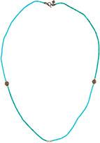 Armenta Long Simulated Turquoise & Malachite Beaded Necklace