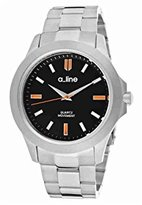 A Line a_line Women's AL-80013-11 GRA Black Dial Stainless Steel Watch
