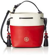 Tommy Hilfiger Summer Of Love Mini Bucket Colourblock, Women's Cross-Body Bag, Weiß (Rwb Colourblock), 10 x 22 18 cm (wxhxd)