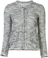 Rebecca Taylor frayed-edge blazer jacket