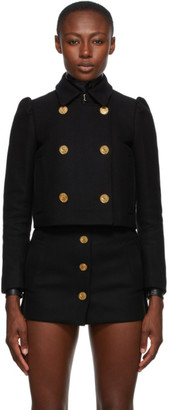 RED Valentino Black Cashmere and Wool Double Breasted Jacket