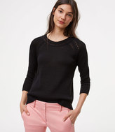 LOFT Pointelle 3/4 Sleeve Sweater
