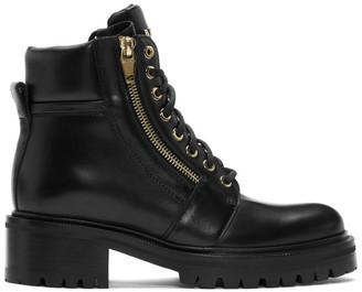Balmain Black Leather Army Boot