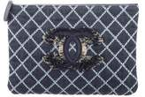 Chanel 2017 Quilted Denim O-Case