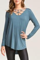 Cherish Strappy Knit T Shirt