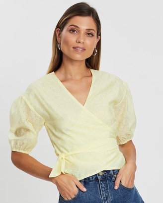 Atmos & Here Mallow Wrap Blouse