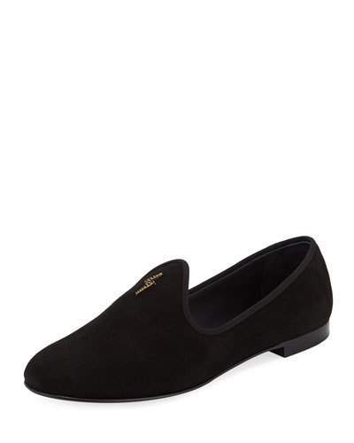 Giuseppe Zanotti Men's Suede Loafer with Signature G-Logo