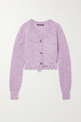 ANDERSSON BELL Lua Distressed Melange Knitted Cardigan - Lilac