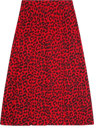 Gucci Skirt with leopard print