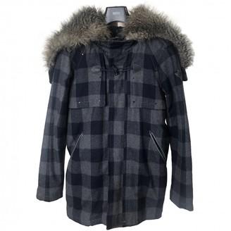 Diesel Blue Wool Coat for Women