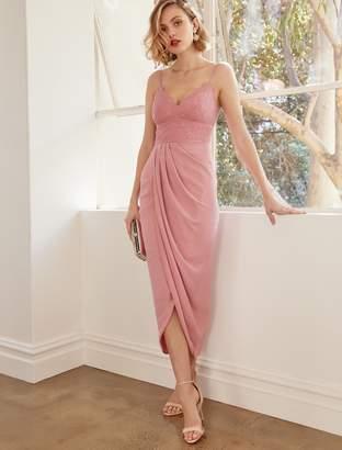 Ever New Jasmina Lace Bodice Drape Maxi