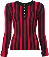 Altuzarra striped button placket top