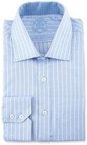 English Laundry Striped Long-Sleeve Dress Shirt, Blue