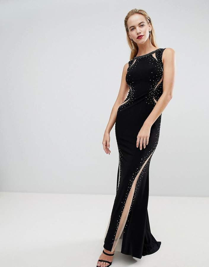 Forever Unique Dramatic Paneled Maxi Dress