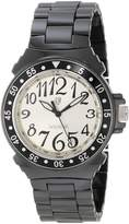 Lancaster Women's OLA0286BNNR-NR Silver Dial Black Ceramic Watch