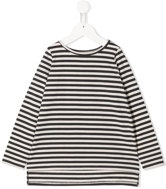 Douuod Kids striped flared T-shirt