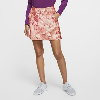 "Nike Women's 17"" Printed Golf Skirt Dri-FIT UV Victory"