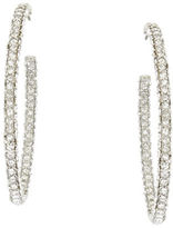 BCBGMAXAZRIA Pave Oval Hoop Earrings