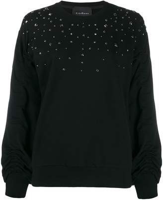 John Richmond stud-embellished loose-fit sweatshirt