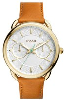 Fossil Women's 'Tailor' Multifunction Leather Strap Watch, 35Mm