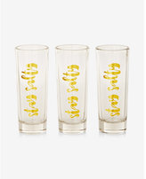 Express Slant Collections Set Of Three Stay Salty Shot Glasses