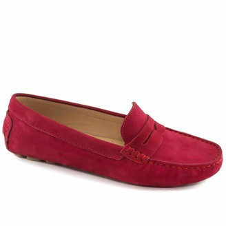 Driver Club USA Women's Genuine Leather Made in Brazil Naples Loafer Shoe