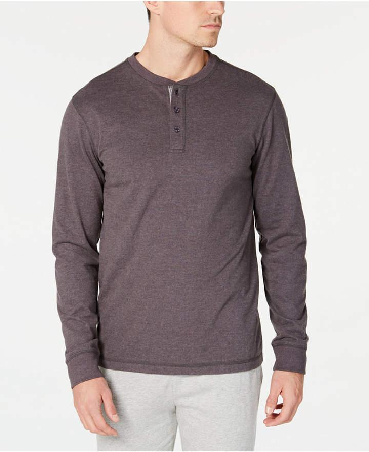 Perry Ellis Men Cotton Henley Pajama Shirt