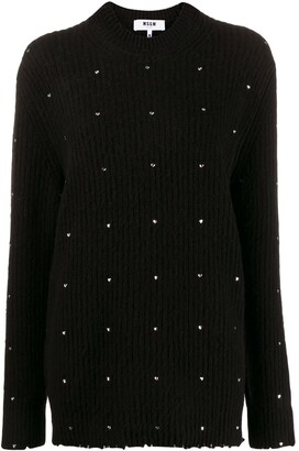 MSGM Embroidered Knitted Jumper