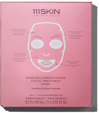 111SKIN Rose Gold Brightening Facial Treatment Mask (5 Pack)