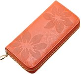 Tibes Women's Genuine Leather Long Day Clutch Wallet Purse High Quality Card Holder Zipper Pocket