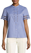 Temperley London Bellanca Cotton Embroidered Blouse
