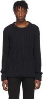 Maison Margiela Black Ribbed Sweater