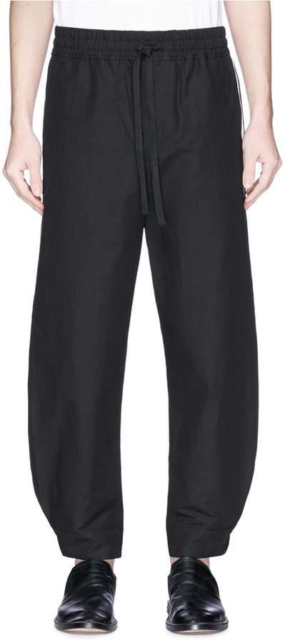 Damir Doma 'Prenio' stripe outseam cotton-linen jogging pants