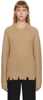 Maison Margiela Tan Pilled Gauge Sweater
