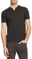 Kenneth Cole New York Shadow Striped Henley Shirt