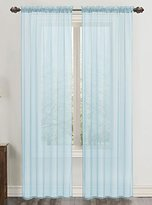 Celine RT Designers Collection Sheer 55 x 90 in. Rod Pocket Curtain Panel, Blue